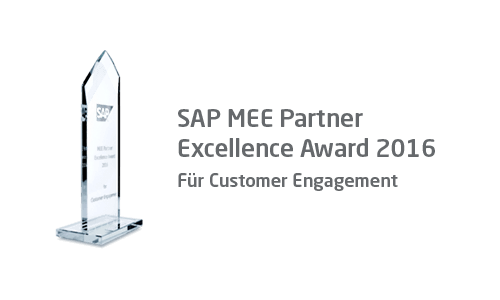 SAP MEE Partner Excellence Award 2016 für Customer Engagement
