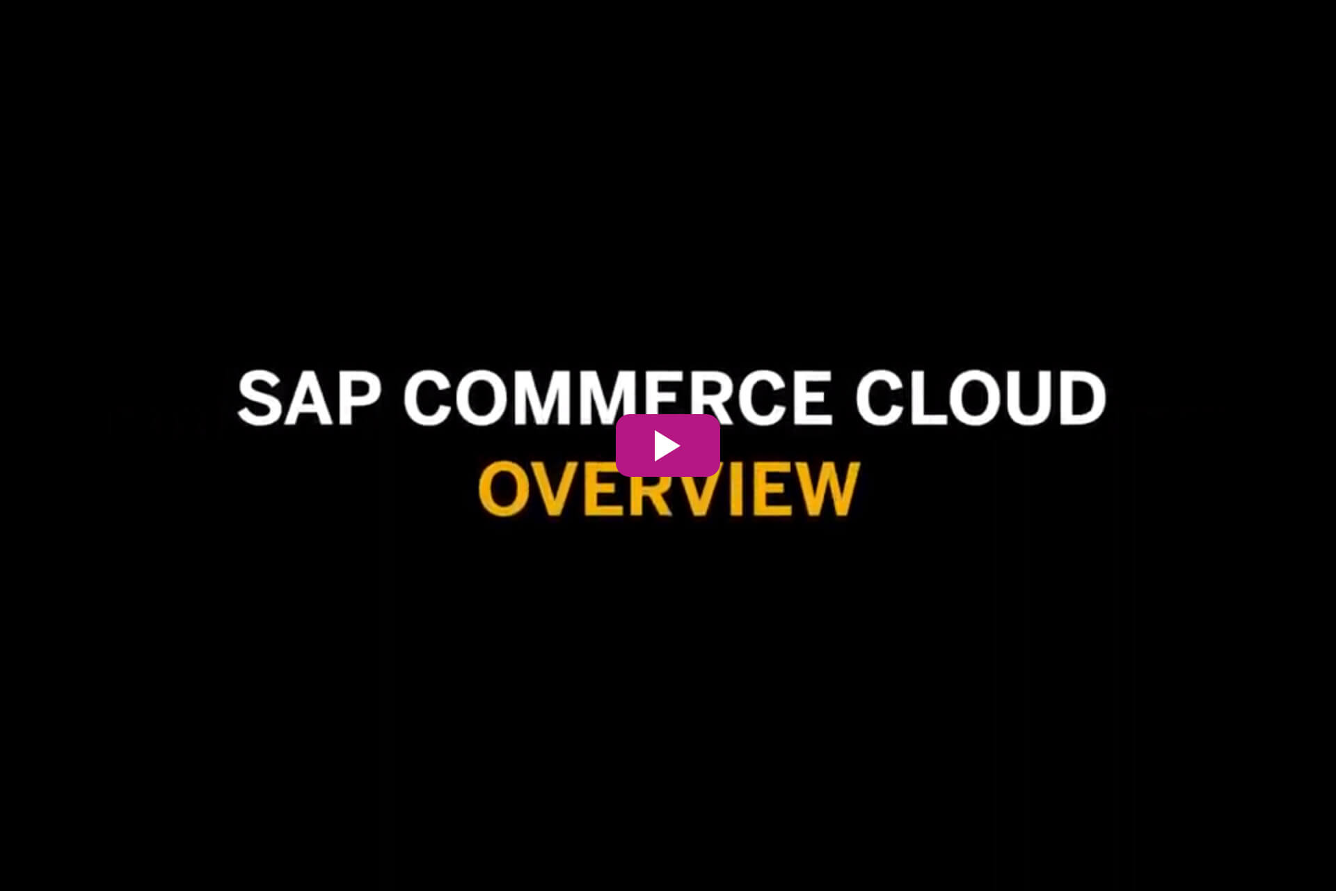 SAP Commerce Cloud | Sybit GmbH