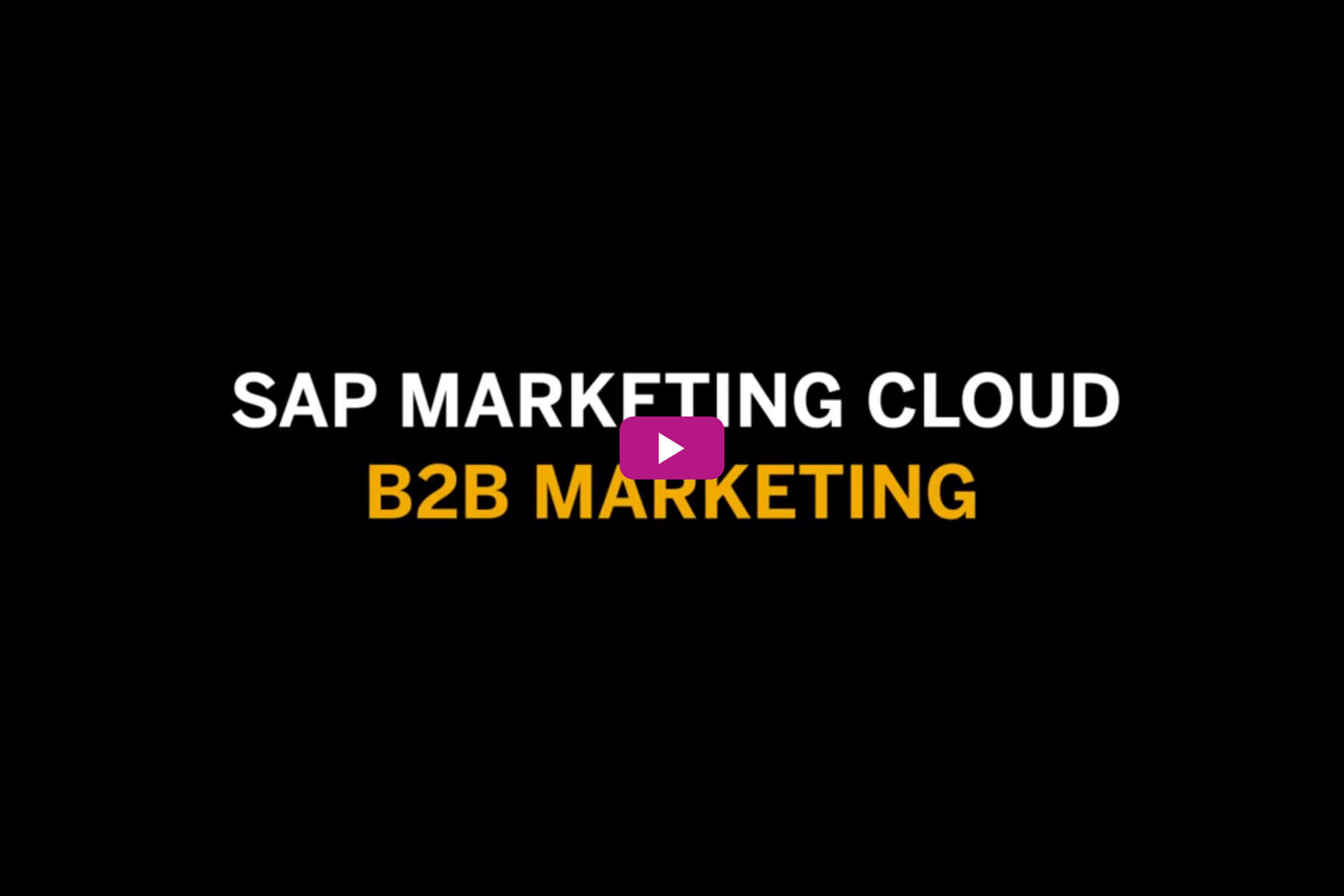 SAP Marketing Cloud | Sybit GmbH