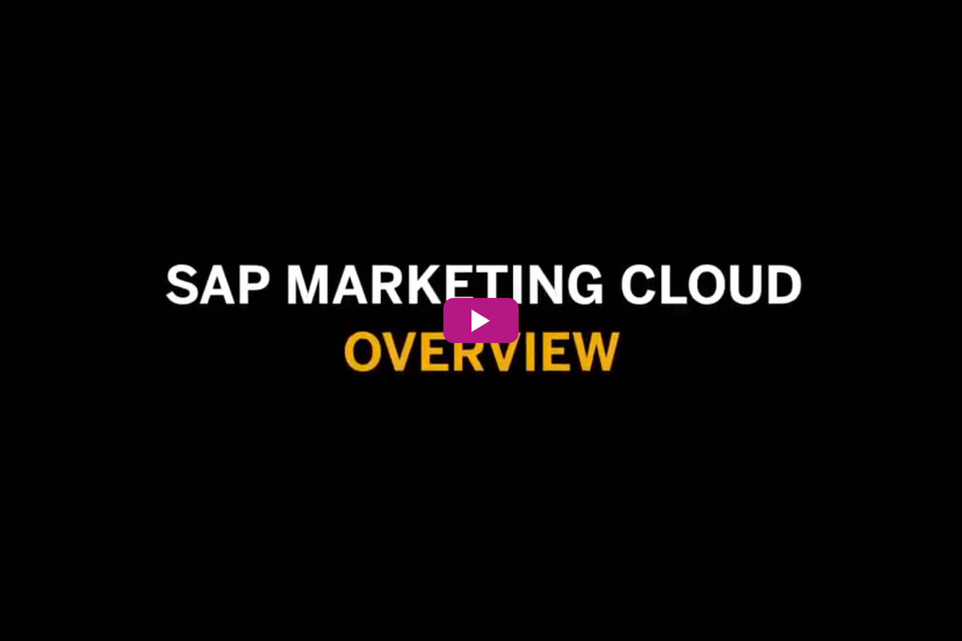 Vorschaubild für das Video SAP Marketing Cloud Overview