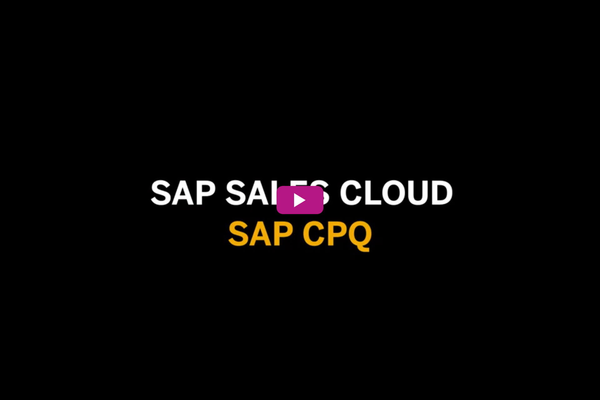 Vorschaubild zum Video SAP Sales Cloud: SAP CPQ