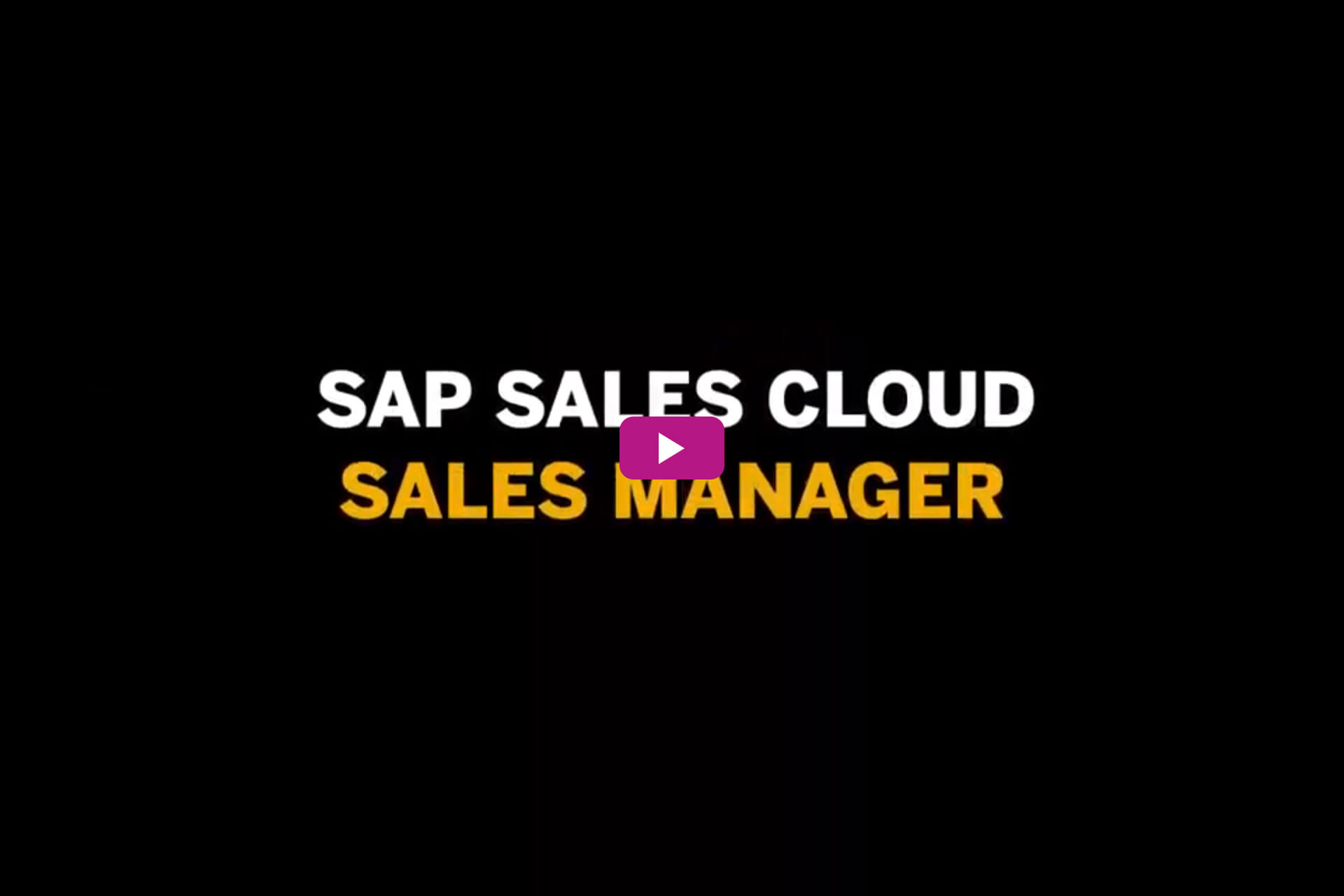 Vorschau zum Video SAP Sales Cloud: Sales Manager