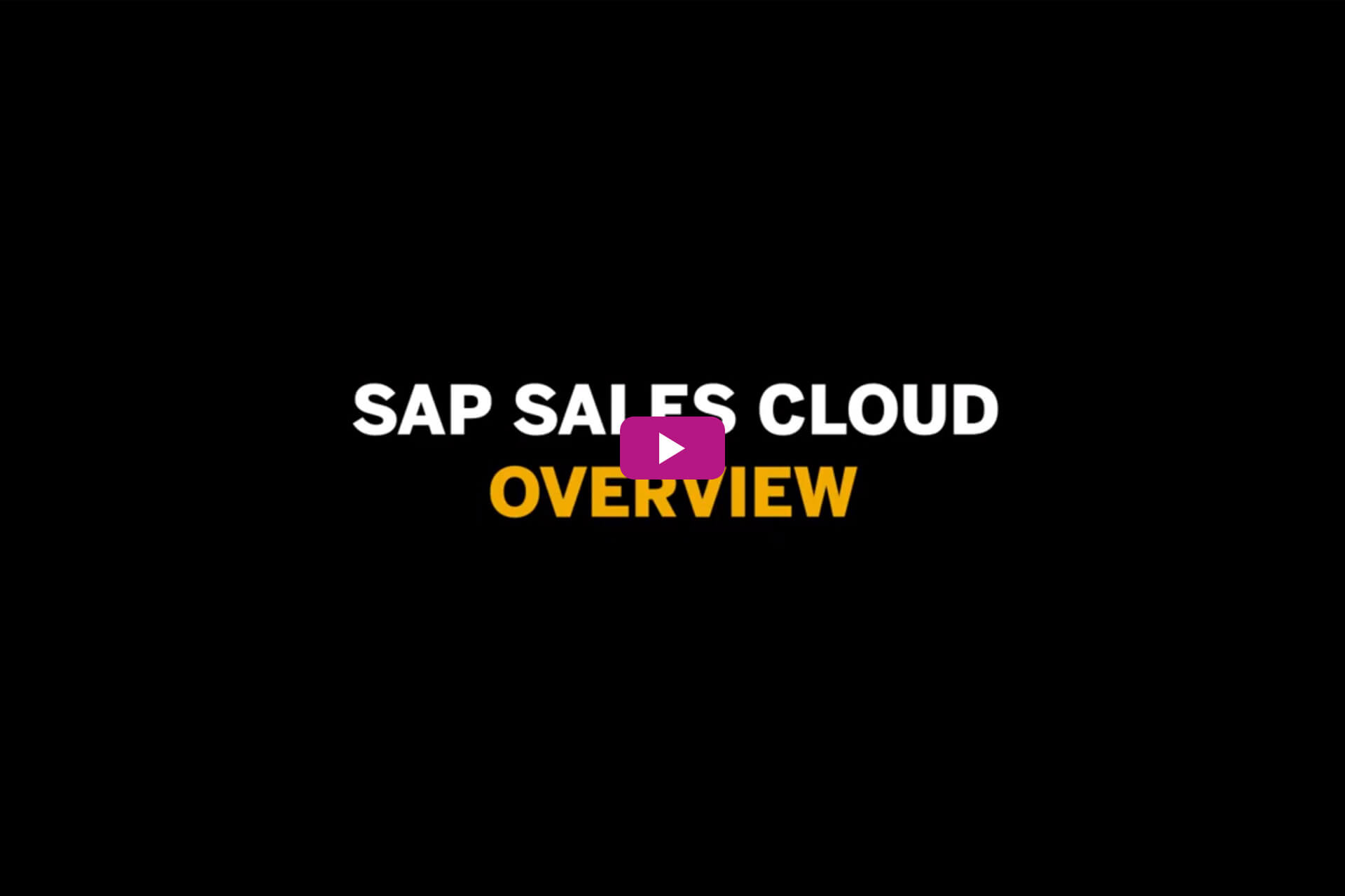 Vorschaubild zum Video SAP Sales Cloud Overview